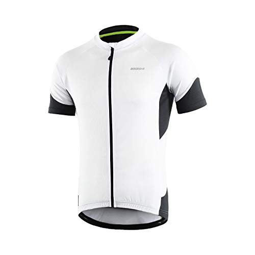 maglia ciclismo bianchi Bergrisar - Maglia da ciclismo a maniche corte da uomo