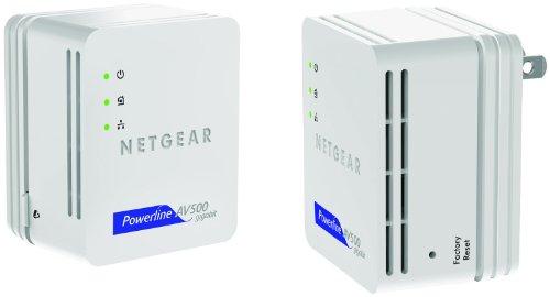 NETGEAR Powerline 500 Nano 1 GigE Port Starter Kit (XAVB5101)