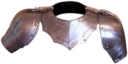Medieval Armor Pair of Warrior Pauldron & Gorget Steel Shoulder Reproduction