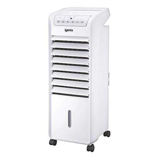 Igenix IG9703 Portable Air Cooler with Remote Control and LED Display, 3...