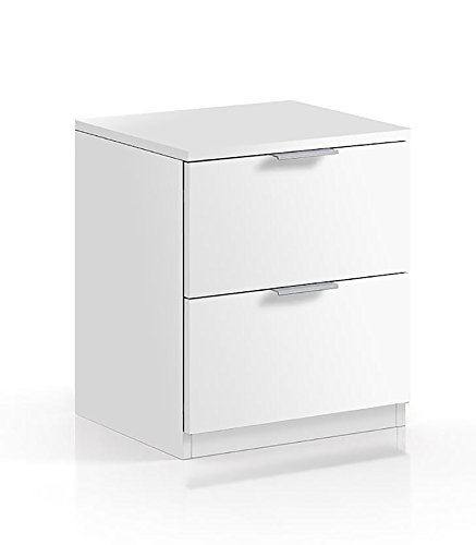 Habitdesign LC7820O - Mesita Noche Color Blanco Mate
