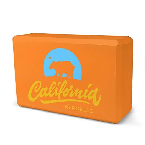 MJH Vintage California Republic - Ladrillo de espuma Eva de alta densidad que proporciona estabilidad y equilibrio, ideal para ejercicio físico
