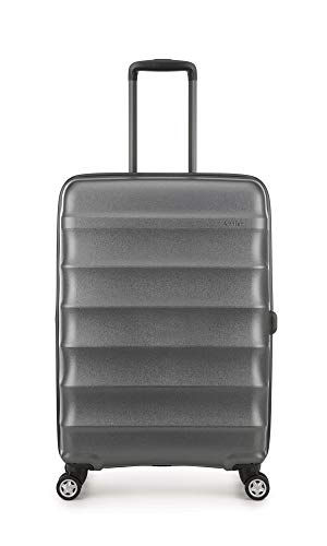 Antler Portobello Medium Hard Shell Suitcase | Travel Case | Suitcases Medium | Suitcases with Wheels | Hard Case | Spinner Luggage | Lightweight | Luggage Set | Hard Sided Suitcases