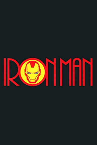 Marvel Iron Man Long Font Mask Logo: Notebook Planner - 6x9 inch Daily Planner Journal, To Do List Notebook, Daily Organizer, 114 Pages