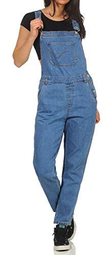 ONLY Damen Latzhose Jeans Overall Karlie gerades Bein 15173764 medium Blue Denim 36/32