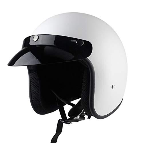 MYSdd Offener 3/4 Motorradhelm, Rollerhelm, Retro Motorradhelm mit abnehmbaren Ohrpolstern, verwendet Werden - b4 XL