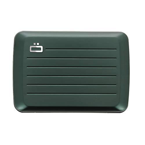 Ögon Smart Wallets - Cartera de aluminio Stockholm V2 - Cierre de metal -Tarjetero RFID antirrobo - Capacidad 10 tarjetas y billetes - Platinium