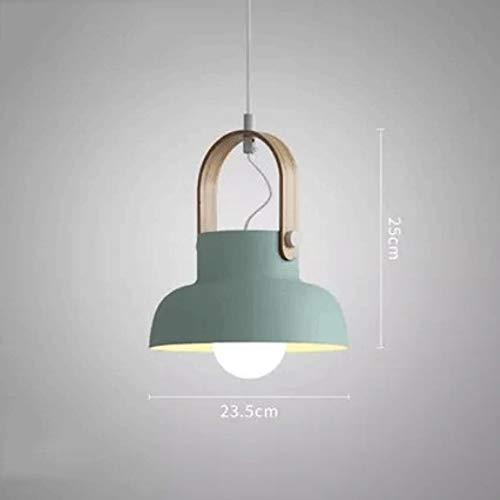 MILUCE Araña de Bar Minimalista nórdica- iluminación de Personalidad Creativa en el Comedor Junto a la Cama sin Bombilla Adecuada para lámpara salón Dormitorio Bar (Color : Mint Green)