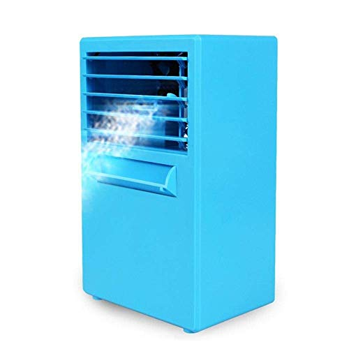 Portable Mini Air Conditioner Fan Personal Space Cooler De Quick Easy Way to Cool Elke Space Binnenlandse Zaken Bureau ventilator met water (Kleur: Wit, Plug Type: US) 8bayfa