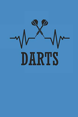 DARTS: NOTIZBUCH Dart Journal Darts Notebook 6x9 squared kariert