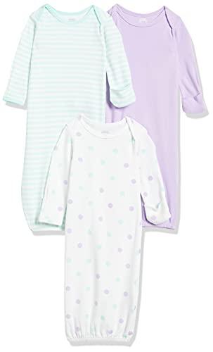 Amazon Essentials - Pack de 3 sacos de dormir de bebé para niña, Girl Dots, US 0-6M (EU 56-68)