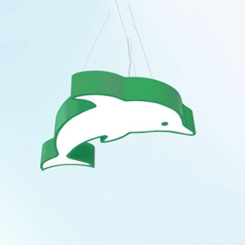 YB Creative Cartoon Dolphin Enfants Lustre LED Chambre À Coucher Jardin d'enfants Parc D'attractions Piscine Lustre,D