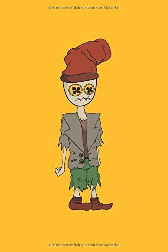 Scarecrow Fantasy Cartoon: Vogelscheuchen Fantasie Comicfigur Geschenke Notizbuch liniert (A5 Format, 15,24 x 22,86 cm, 120 Seiten)