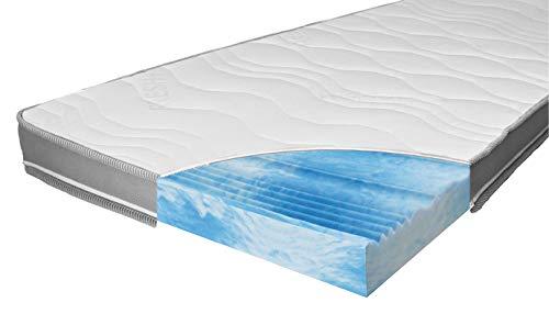 ARBD Matratzenauflage - Topper | Modelle mit 7-12cm Gesamthöhe | waschbarer Bezug mit 3D-Mesh-Klimaband (H2 Rave XXL - 12cm, 80 x 200 cm)