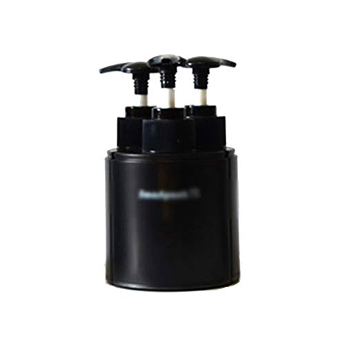 Zhou Outdoor Adventure wichtige Waren, Shampoo Duschgel Unter Flasche Geschäftsreise Tragbare Set Flasche Approved for Handgepäck yan (Color : Black)