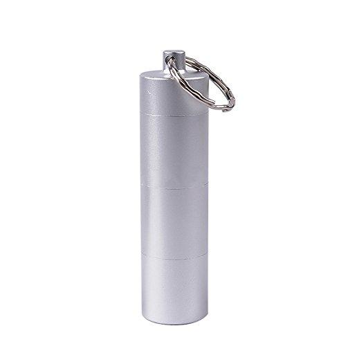 Bbl345dLloPortable Pastillero diario semanal, cápsula portátil medicina tubo contenedor caso titular de viaje píldoras caja de almacenamiento - plata