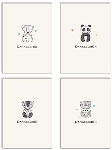 40 Umweltfreundliches Dankeskarten - Klappkarten mit 40 Umweltfreundliches Umschlägen : Dankeschon, Danksagung nach Hochzeit, Geburtstag, Konfirmation u.v.m. :