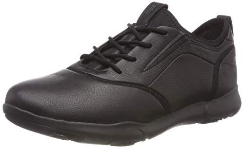 Geox Herren U Nebula S C Slip On Sneaker, Schwarz (Black C9999), 43 EU