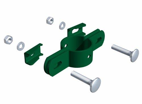 GAH-Alberts 563400 Doppelschelle, für Pfosten Ø 34 mm, grün