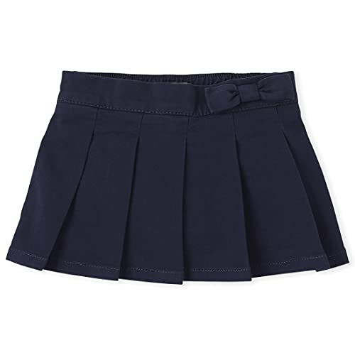 The Children's Place Baby Girls and Toddler Girls Pleated Skort, Tidal, 5T