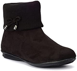 Bruno Manetti Women Suede Leather Black Casual Boots