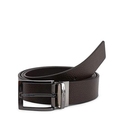 Armani Jeans Reversible Leather Belt One Size BROWN