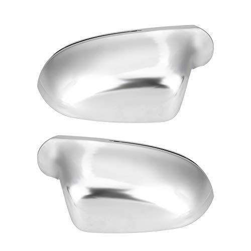1 par de carcasas de espejo lateral A4 B8 para automóviles, cubiertas de espejos retrovisores Protección de la carcasa del espejo cromado