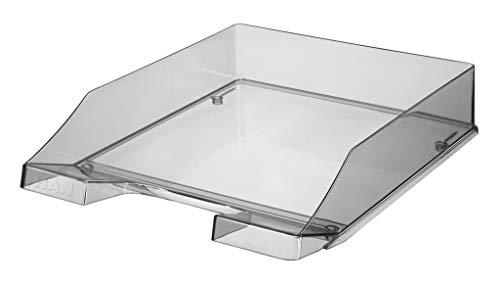 HAN Briefablage KLASSIK TRANSPARENT – 6 STÜCK, transparente und stapelbare Ablage im frischem Design bis Format A4/C4, transparent-grau, 1026-X-24
