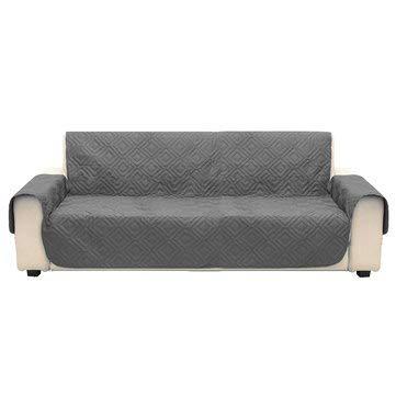 MASUNN grijze microvezel huisdier hond Kids bank bank bank bank meubelbeschermer cover riem waterdichte stoelhoezen, 3, 1