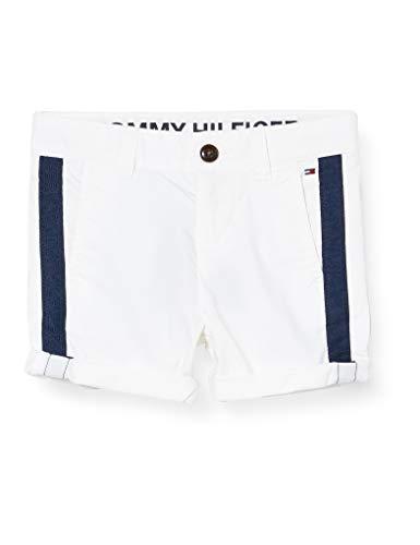 Tommy Hilfiger Jungen Th Cool Tape Short, Weiß (White Ybr), One Size (Herstellergröße: 86)