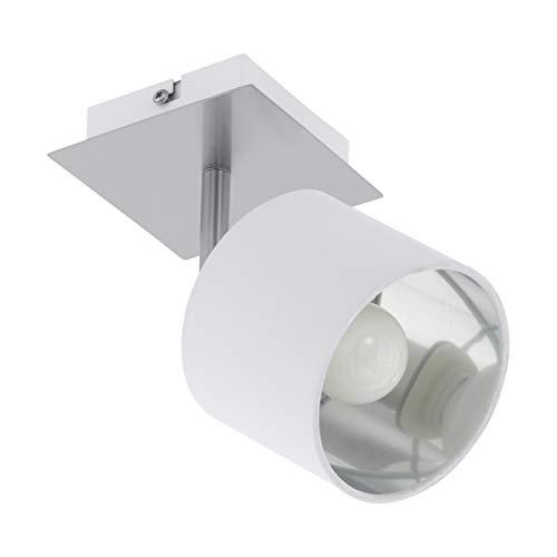 EGLO VALBIANO Lámpara de techo con focos, 10 W, Nickel-matt, Weiss
