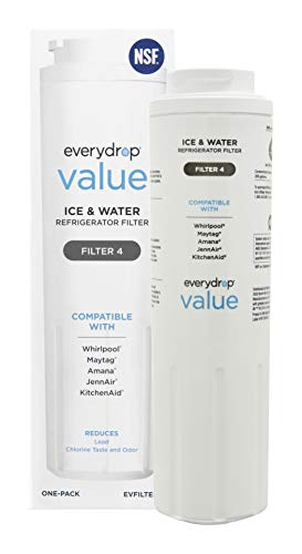 Everydrop Value by Whirlpool Ice and Water Refrigerator Filter 4, EVFILTER4, Single-Pack