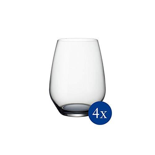 Villeroy & Boch Colourful Life Cosy Grey - Vasos de agua, 420 ml, cristal, transparente/gris, juego de 4
