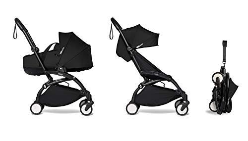 Babyzen Yoyo² con Bassinet – Bañera para bebés 0+ y Colorpack 6+ – Estructura en negro, color negro