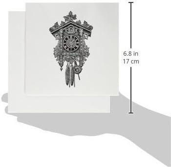 gc_183365_2 Vintage Cuckoo Clock Artwork 3dRose Set of 12 Greeting ...