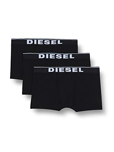 Diesel Herren Boxershorts UMBX-DAMIENTHREEPACK (3er Pack), Schwarz (Off/Black E4101), M