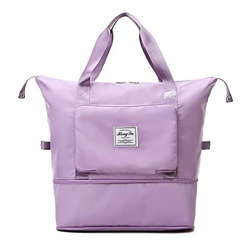 HKAB BOISA Faltbare Wasserdicht Reisetasche mit großer Kapazität, Reisetasche Groß Faltbare Reisetaschen Leichte Sporttasche wasserfest groß leicht Handgepäck Freizeit-Tasche