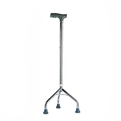 Yhua Bastón de Tres Patas de aleación de Aluminio Grueso, bastón Blanco Antideslizante Ajustable, Andador Mayor Duradero, Parte Inferior de Goma A ++