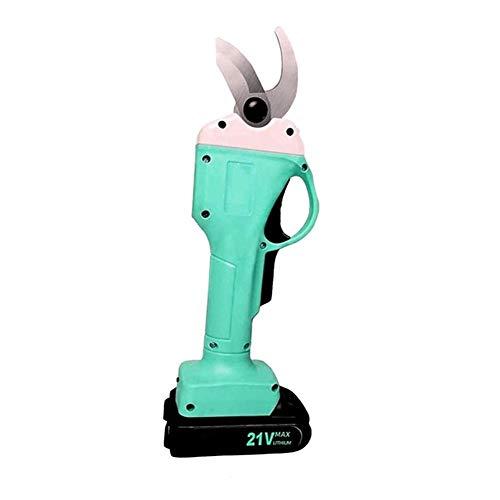 TOPofly 21V sin Cable eléctrico podador - Jardinería Tijeras de podar Rama Cortador jardín Lopper Linterna LED de Enchufe de la UE