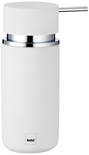 Kela 20420 Seifenspender, Keramik, 16, 5 cm, 300 ml, Per, Weiß