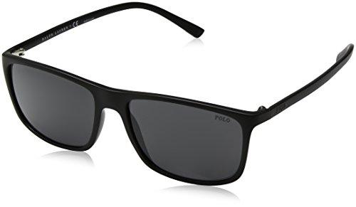 Polo Ralph Lauren 0PH4115, Gafas de Sol para Hombre, Negro (Matte Black), 55
