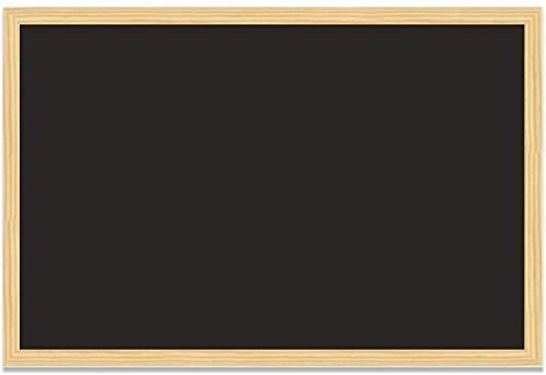 H HANSEL HOME - Blackboard, Tafel mit natürlichem Rahmen - 60X40 cm