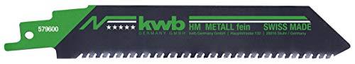 kwb 579600 Säbel-Sägeblatt f. hochfeste Stähle 4-12 mm Stärke, m. Universal-Schaft, Lange Lebensdauer