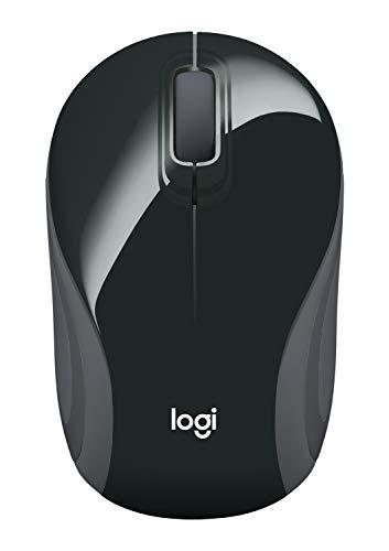 Wireless Mini Mouse M187, Pocket Sized Portable Mouse for Laptops, Black