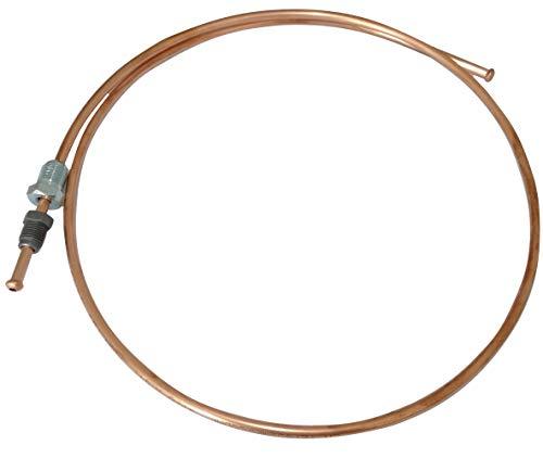 Aerzetix: Bremsleitung Schlauch aus Kupfer 100 cm Ø 4,76 mm mit Anschlüssen M12x1/M10x1 C42552