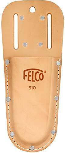 FELCO 910 Etui für Gartenscheren (Holster aus Echtleder, mit Gürtelschlaufe + Klammer, Befestigung am Gürtel, für Rebscheren / Baumscheren)