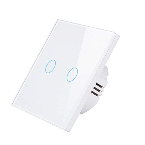 Panel de interruptores Muro táctil de luz interruptor de cristal panel de vidrio templado de cristal Material ignífugo estándar 110V 220V 1/2 / 3Gang Sensor del hogar Interruptor Para oficina en casa