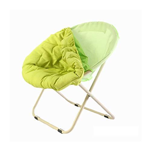 KKLL Jardín Plegable Platillo Silla Plegable del sillón del sillón del sillón de la Tumbona Silla Redonda del sofá de la Silla (Color : Green)