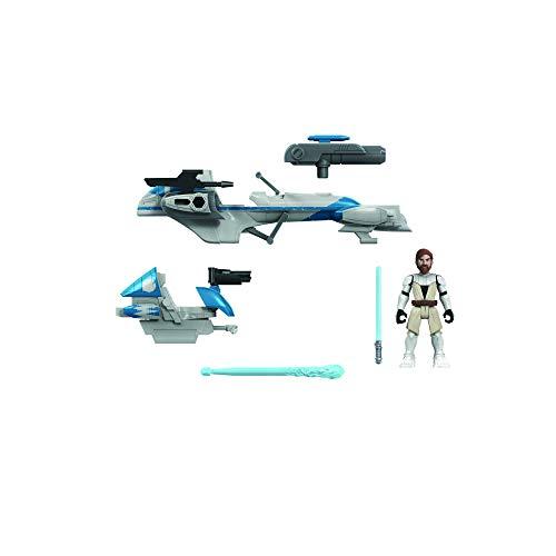 Star Wars Mission Fleet Expedition Class OBI-WAN Kenobi Jedi Speeder Chase Figura y vehículo de 6 cm, Juguetes para niños de 4 años en adelante
