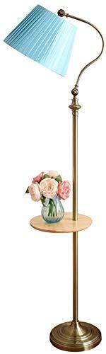 MY1MEY Standleuchte Home mall- Stehlampe, moderner Stil Stehlampe mit Holzschale und Lampenschirm aus Stoff für Wohnzimmer Schlafzimmer Arbeitszimmer 30X160cm (Color : Color#3)